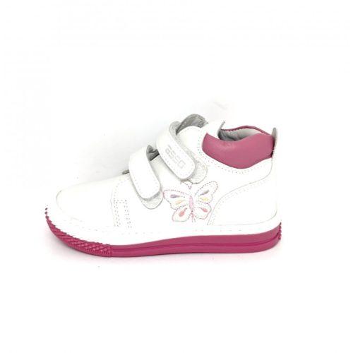 Asso fehér, oldala hímzett színes pillangó kislány félcipő (24)