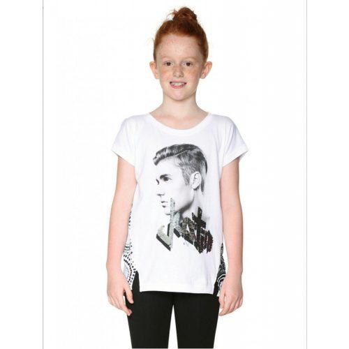 Desigual Justin Bieber-es lányka póló (13-14 év/158-164 cm)