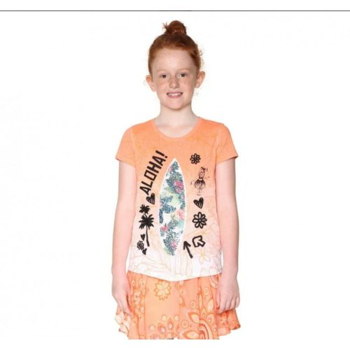 Desigual rövid ujjú lány póló(11-12 év/146-152 cm)