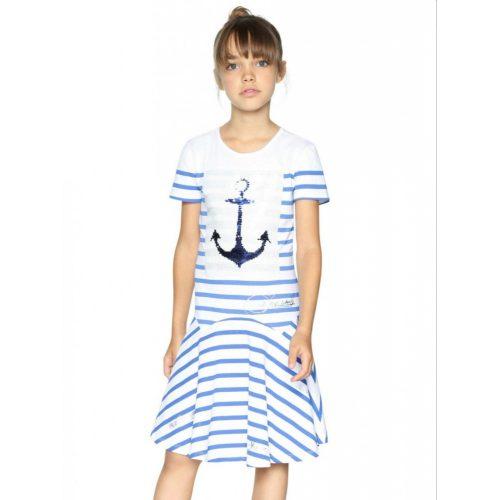 Desigual csíkos lányka ruha (9-10 év /134-140 cm-11-12 év/146-152 cm)