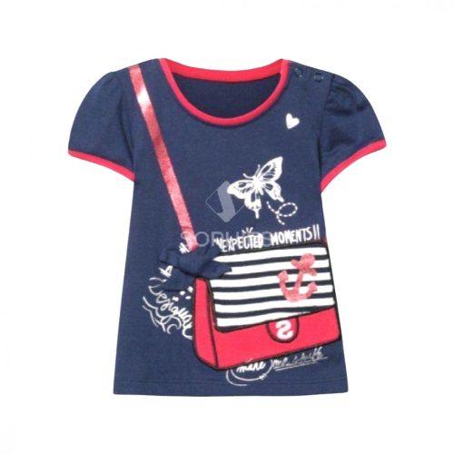 Desigual kislány Kék/piros póló (3 hó/62 cm-24 hó/86 cm)