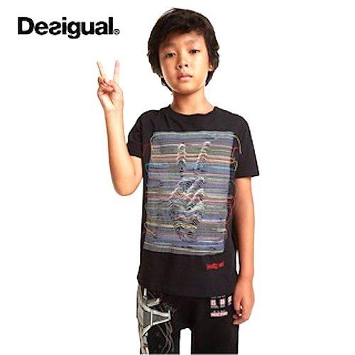 Desigual fekete fiú póló(7-8 év/122-128 cm)