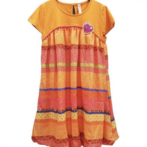 Desigual narancssárga lányka ruha(11-12 év/146-152 cm)