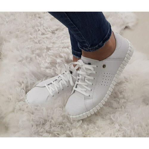 Nessi fehér bőr cipő