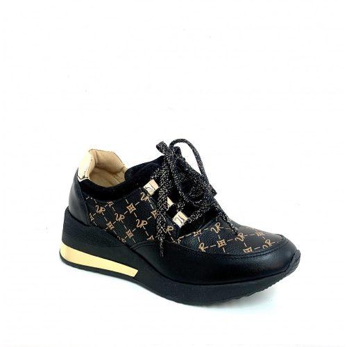 Via Roma Monogram Cipő Arany