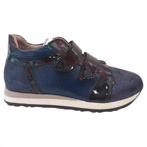 Asso kék lakk lány sport cipő