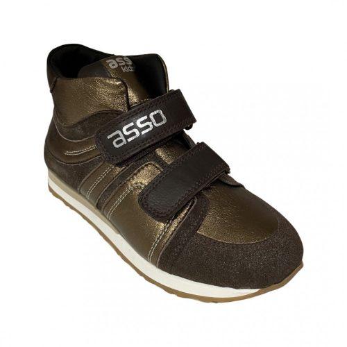 Asso Kids Arany barna lány magasitott szárú sportcipő