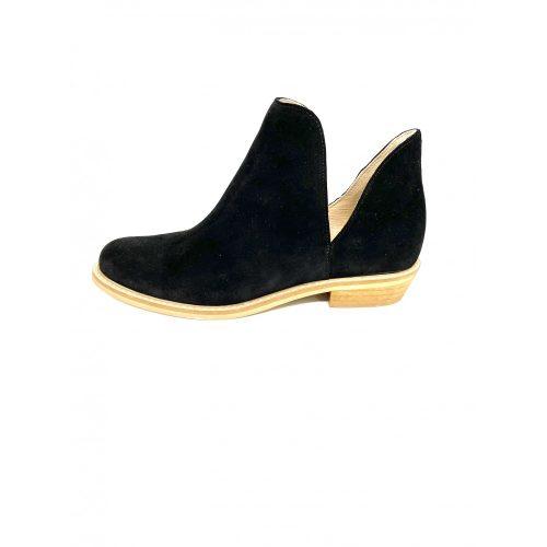 Karino fekete velúrbőr cipő
