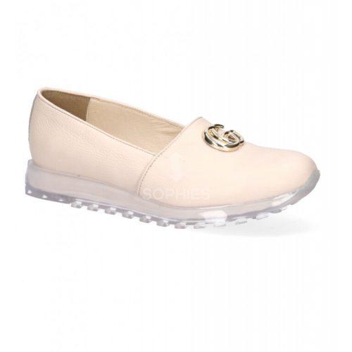 Rózsaszín Karino cipő átlátszó talpal és látványos díszítéssel (36-40)