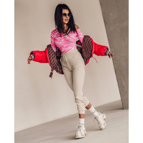 Ola Voga STRONG PRINT body- fehér/pink(One Size)
