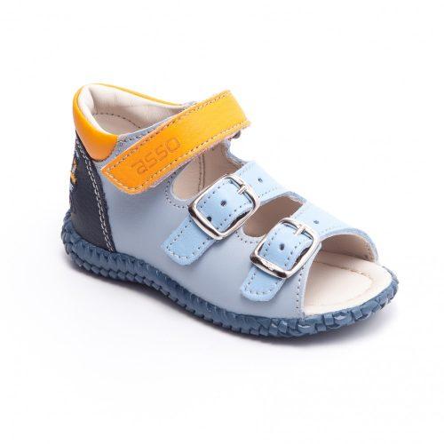 Kék autós Asso kisfiú félcipő