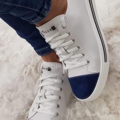 Nessi női fehér kék sportcipő