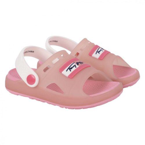 Tommy Hilfiger Kids lány rózsaszín gumi papucs