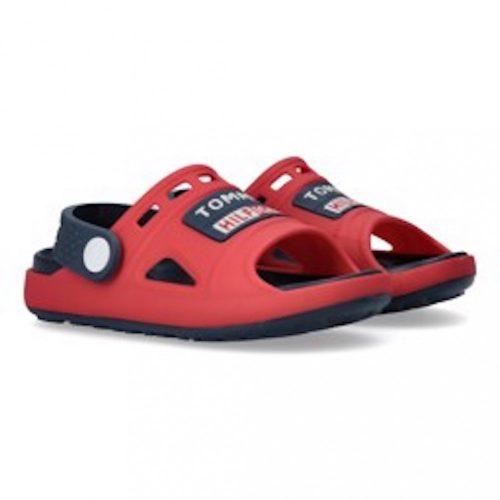 Tommy Hilfiger Kids piros papucs