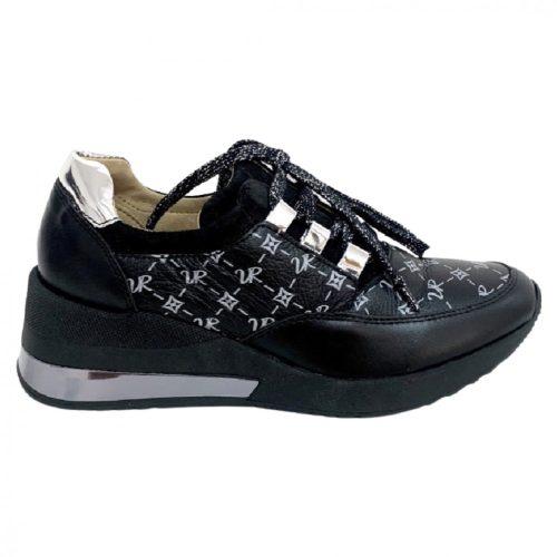 Ezüst Via Roma Monogram Cipő