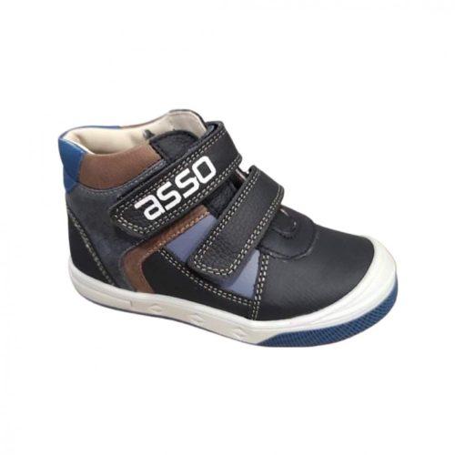 Asso barna/sötétkék fiú cipő
