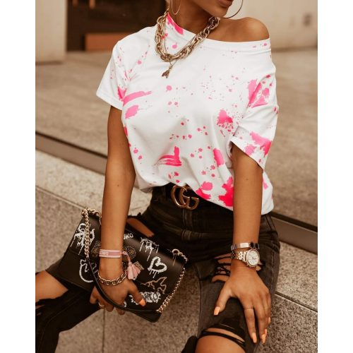 Ola Voga rózsaszín foltos póló