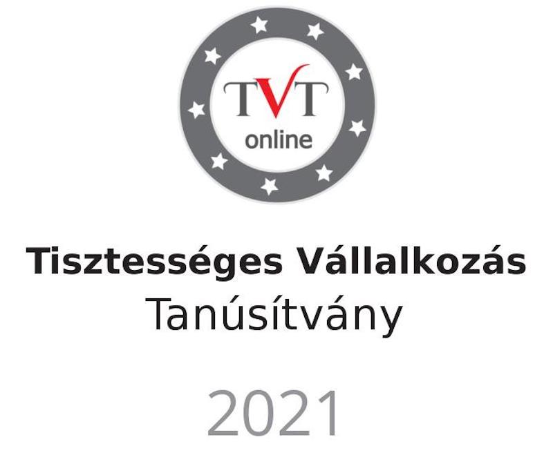 Tisztességes Vállalkozás Tanúsítvány 2021