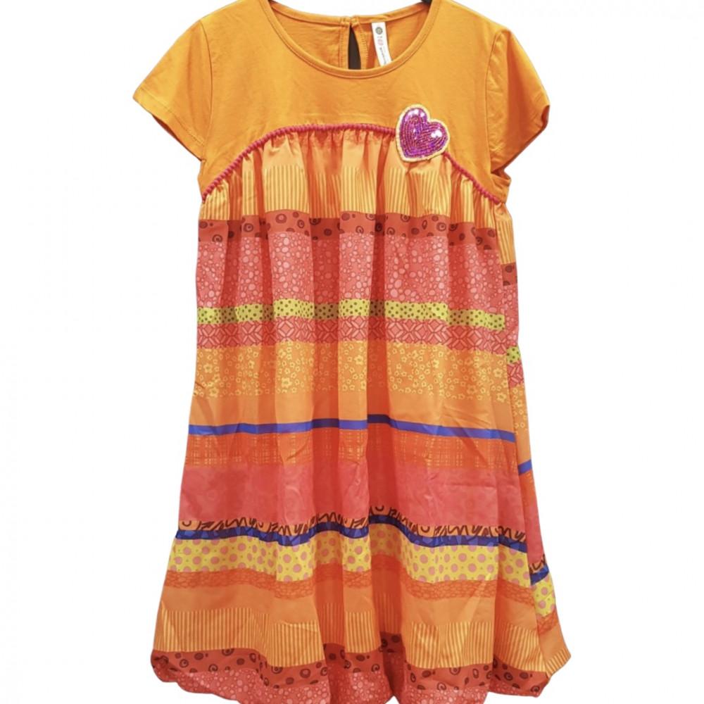 Desigual narancssárga lányka ruha