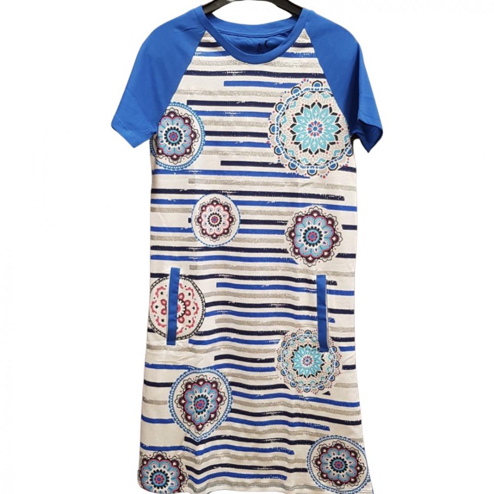 Desigual mandalás kék ruha
